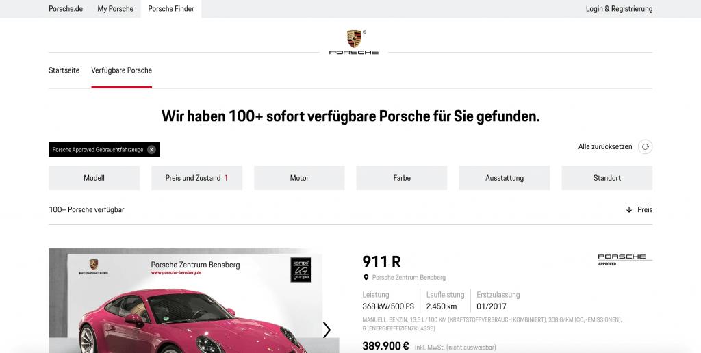 Porsche-gebrauchtwagen